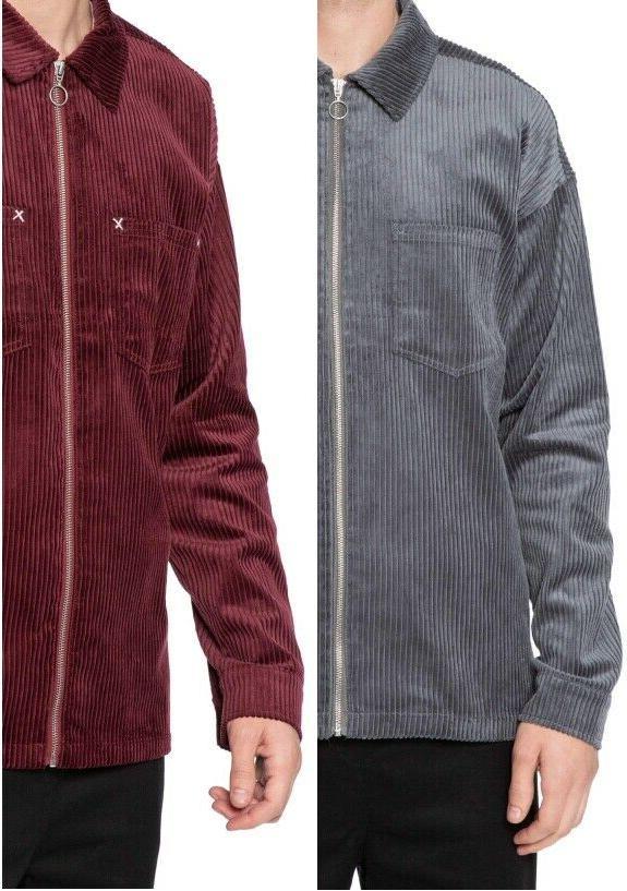 men s corduroy zip up jackets l