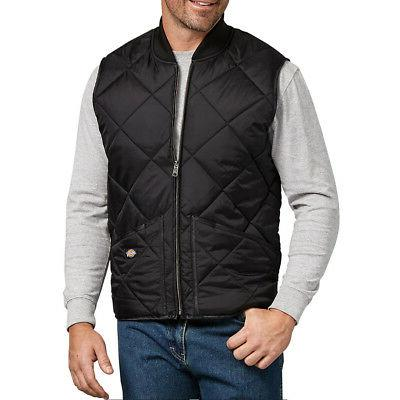 men s diamond quilted nylon vest black