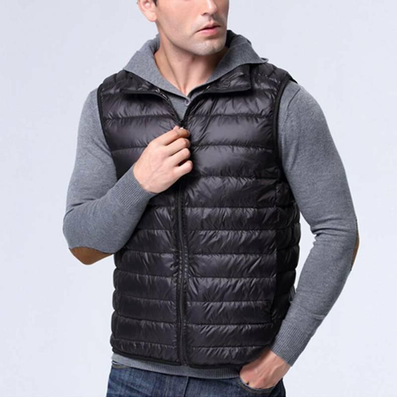 Men's Down Vest Sleeveless Warm Outwear Coats