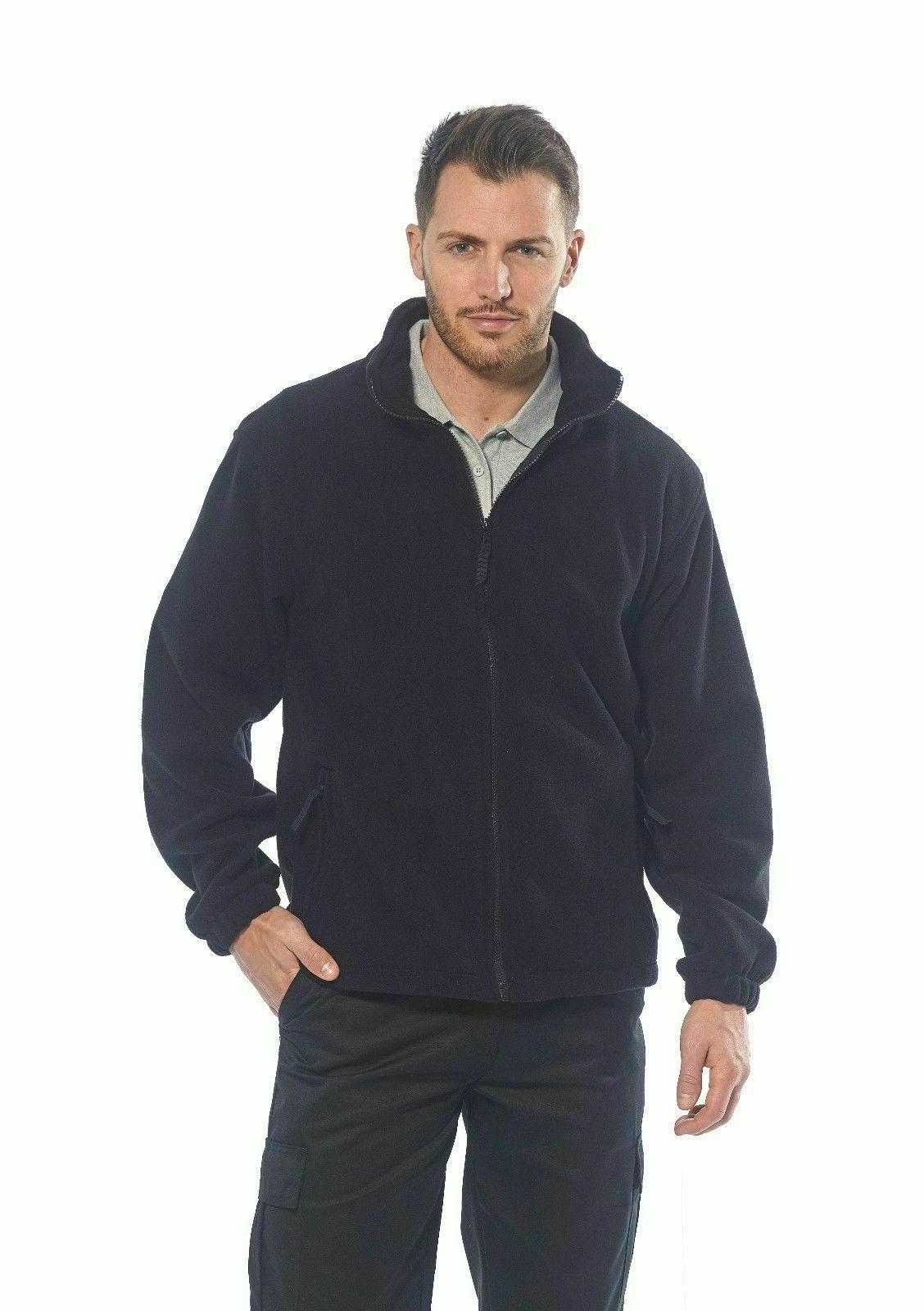 men s fleece full zip warm polar