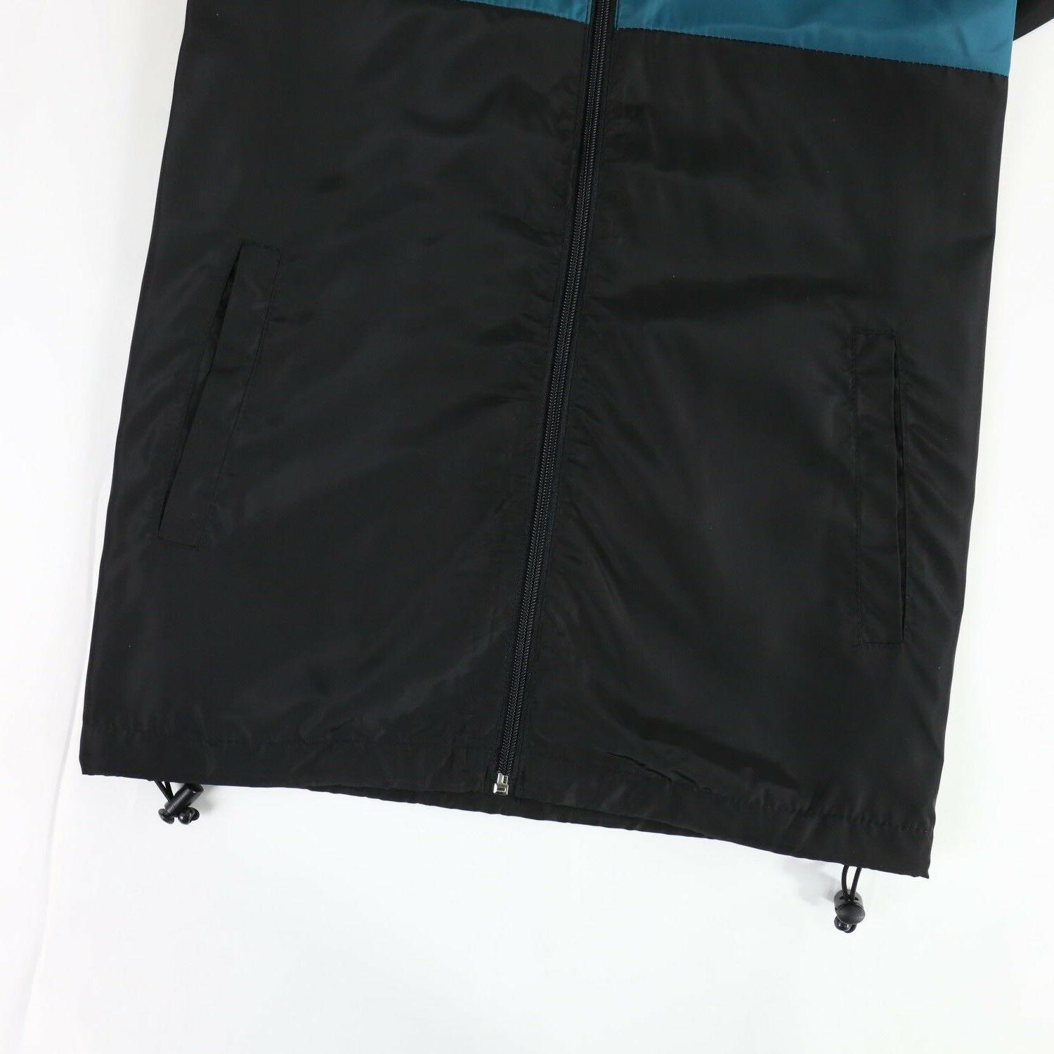 Men's Windproof Rain Teal Black