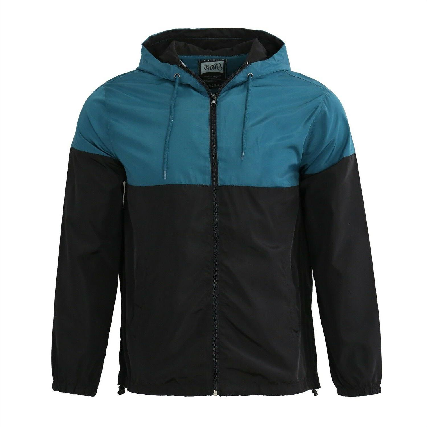 Men's Windproof Outdoor Rain Jacket Teal