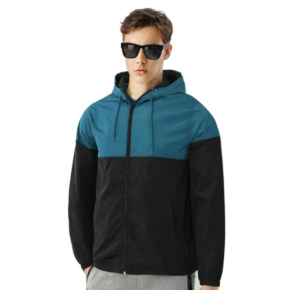 men s hooded lightweight windbreaker windproof outdoor