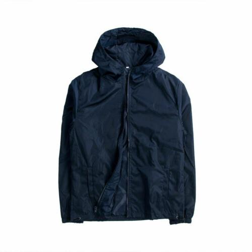 US Men Waterproof ZIPPER Sports Outwear Coat Gym