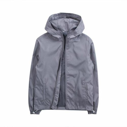 Men's Jacket Hooded Outdoor Windbreaker Rain Coat