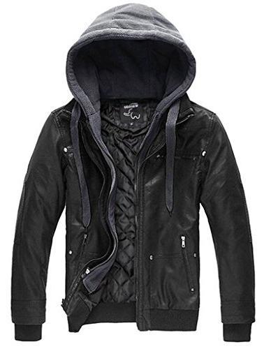 faux leather autumn jacket