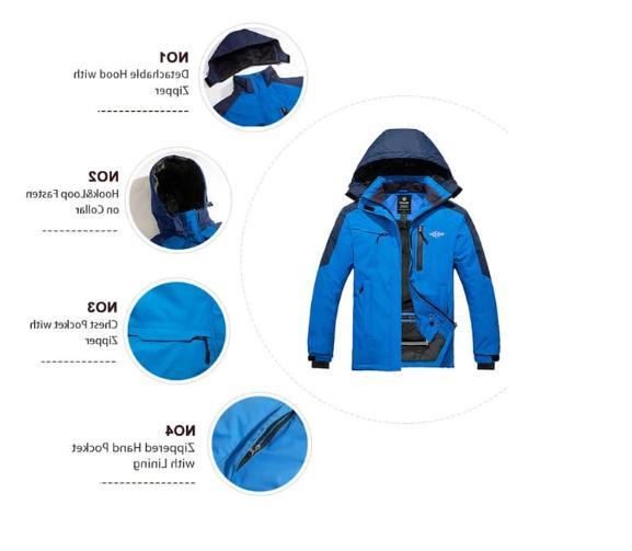 Wantdo Men's Mountain Jacket Waterproof Winter Army