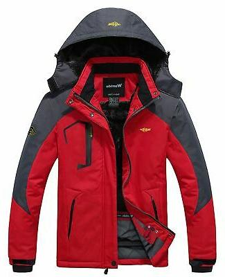 men s mountain waterproof fleece ski jacket