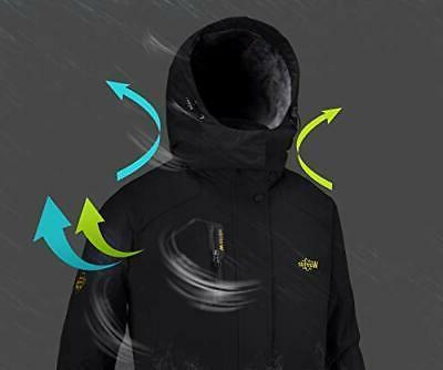 Wantdo Men's Mountain Waterproof Ski Jacket Medium