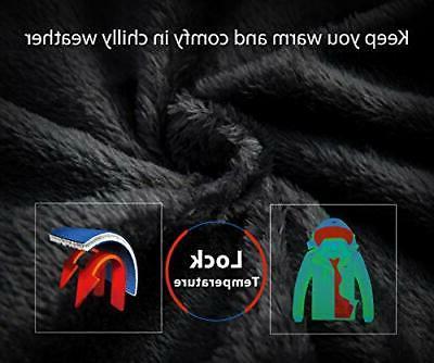 Wantdo Men's Mountain Ski Jacket Black