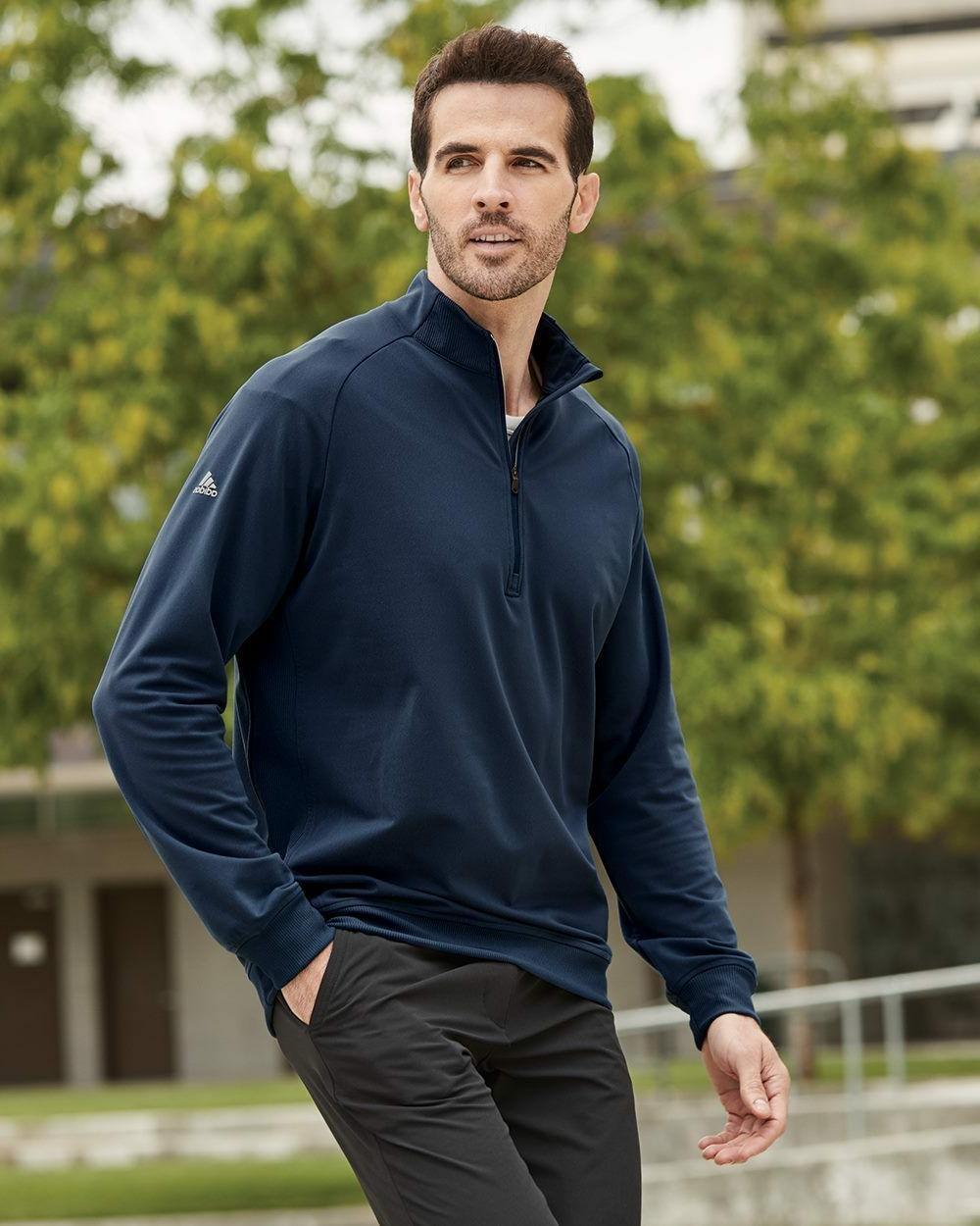 Adidas Quarter-Zip Golf Sizes S-3XL, UPF A270, A271
