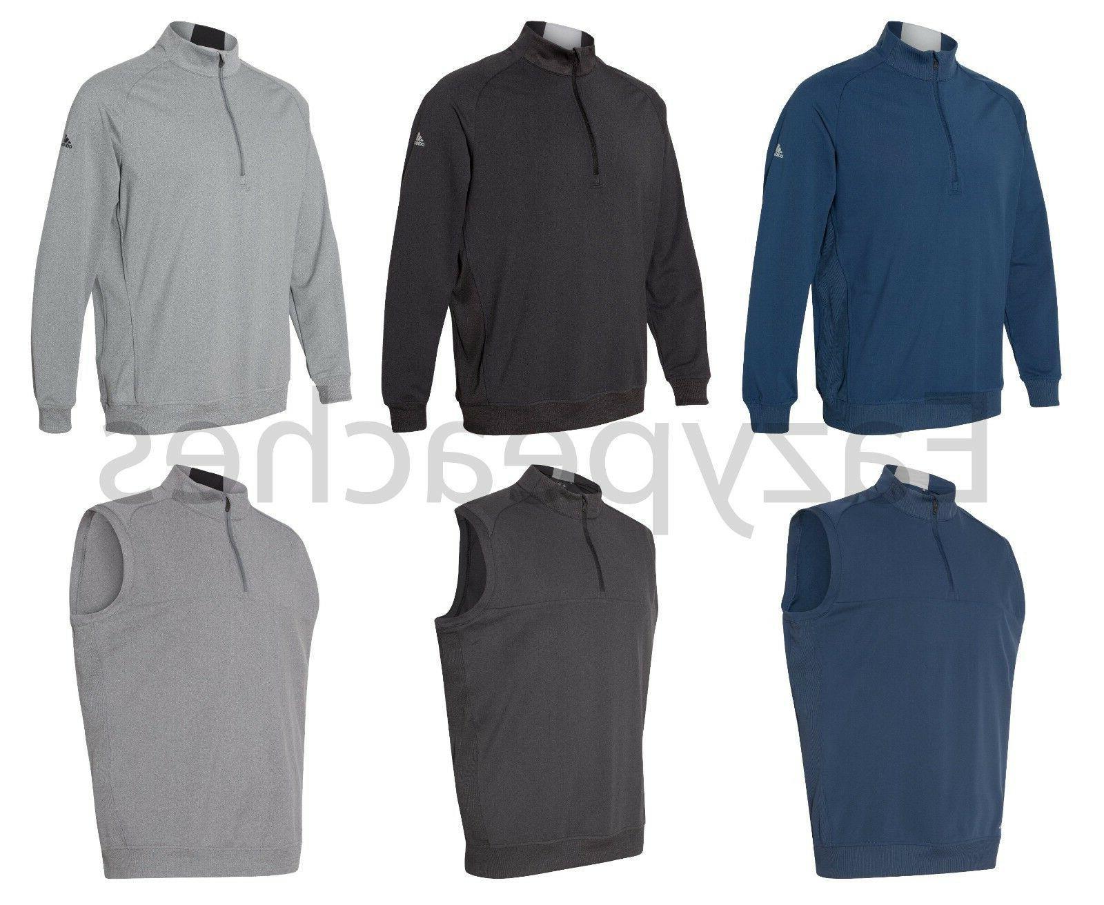 men s quarter zip golf vest or