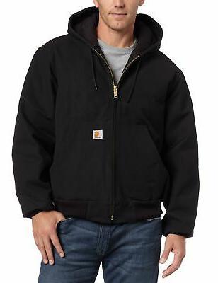 Carhartt Men's Lined Duck Jacket J140,Black,Large