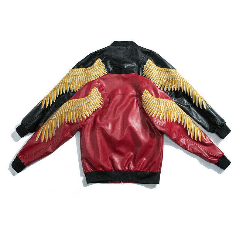 Men's spring Faux Leather zip
