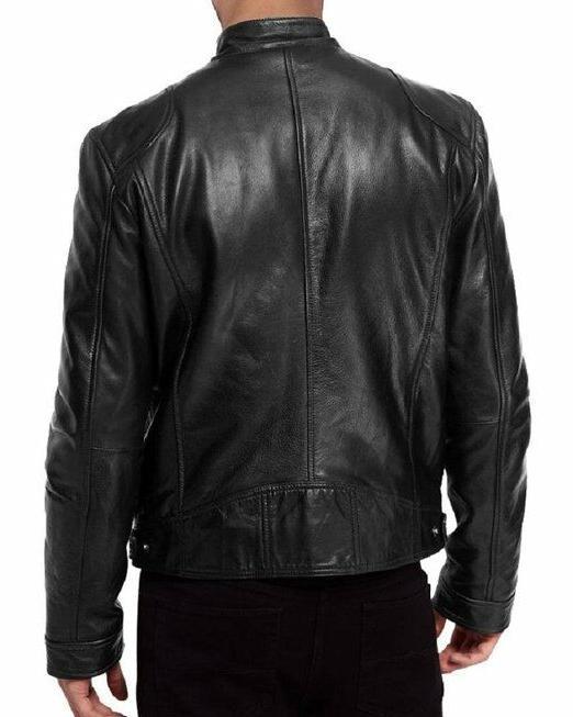 The SWORD Black Genuine Leather Biker