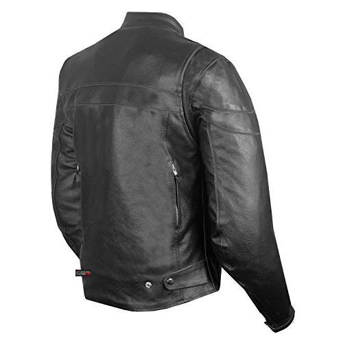 Men's Throttle Leather Motorcycle Street Biker