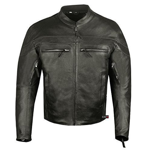 Men's Throttle Motorcycle Biker Jacket
