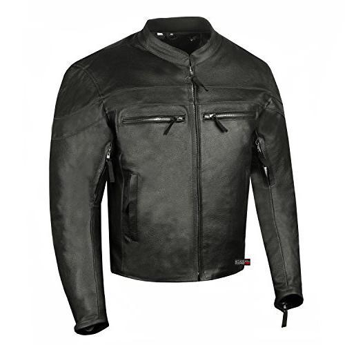 men s throttle premium leather motorcycle street