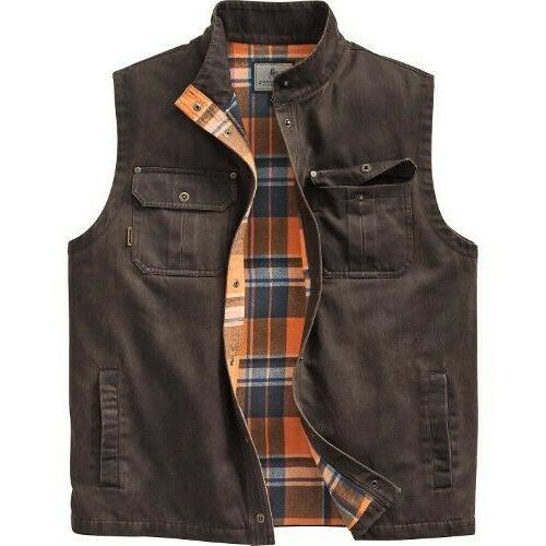 men s trekker vest jacket xlt brown