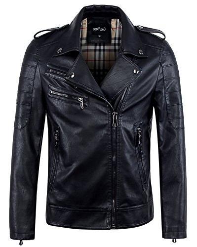 men s vintage asymmetric zip lightweight faux