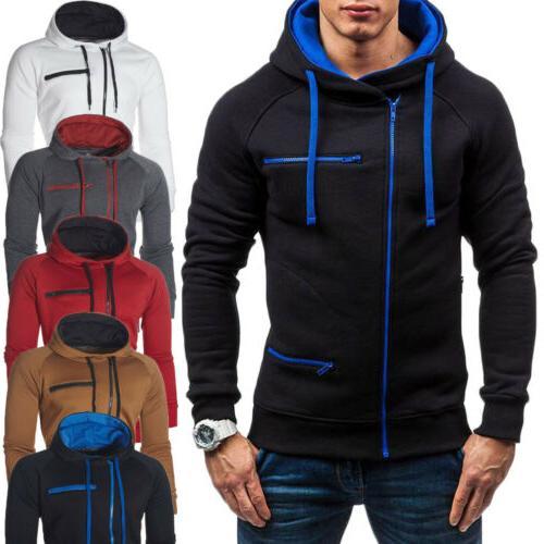 Men's Warm Hoodie Sweatshirt Coat Jacket Jumper