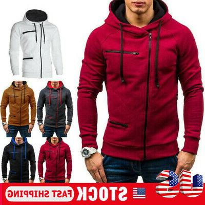 men s warm hoodie hooded sweatshirt coat