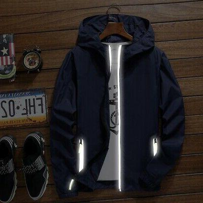 Men's Windbreaker Jacket Outwear Coat Gym