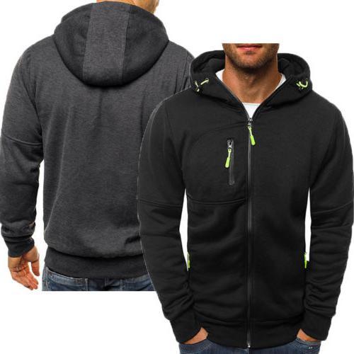 Men's Winter Hoodies Slim Fit Sweater Warm