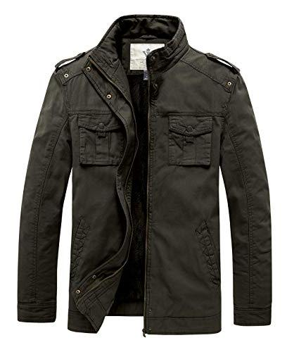 men s winter military inspired bottons jacket