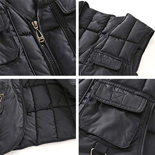 Quilted Cotton Padded Cargo Vest Multi Pocket
