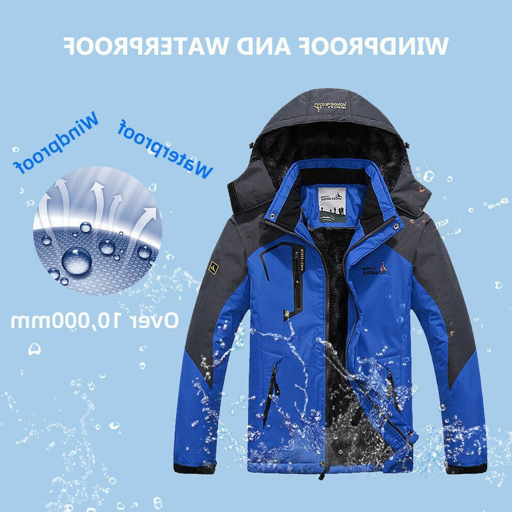 Men's Winter Ski Jacket Coat Snow Fleece Warm Outerwear