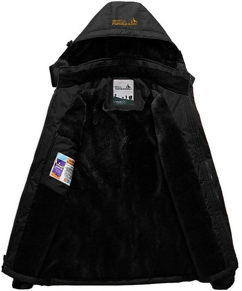 Men's Winter Ski Coat Snow Waterproof Windbreaker Fleece Warm Outerwear