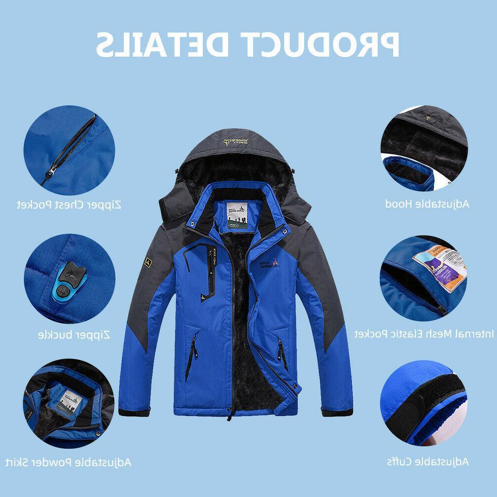 Men's Winter Ski Coat Snow Waterproof Fleece