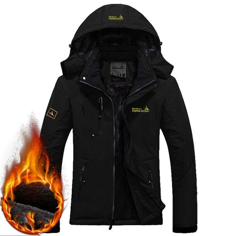 Men's Jacket Coat Snow Windbreaker Fleece Warm Outerwear