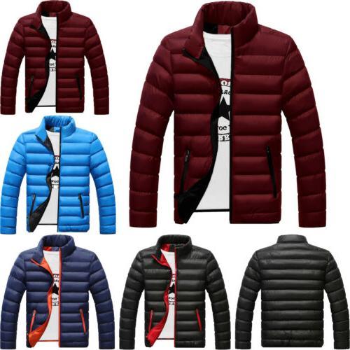 Men's Winter Jackets Ski Zipper Jacket Snow Tops Outerwear