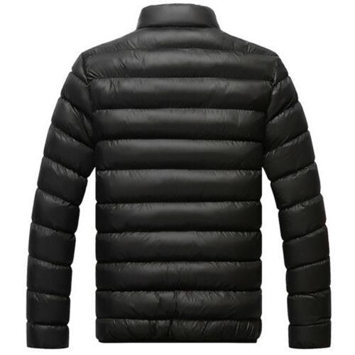 Men's Winter Down Jackets Ski Puffer Zipper Jacket Coat Outerwear