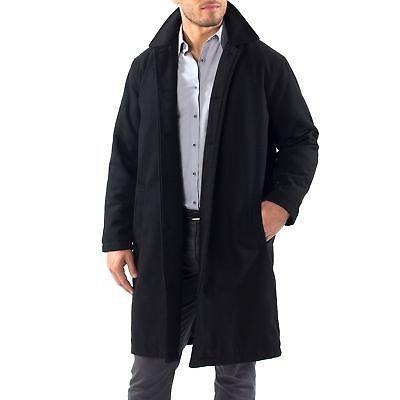 Alpine Knee Length Coat Wool Blend Overcoat