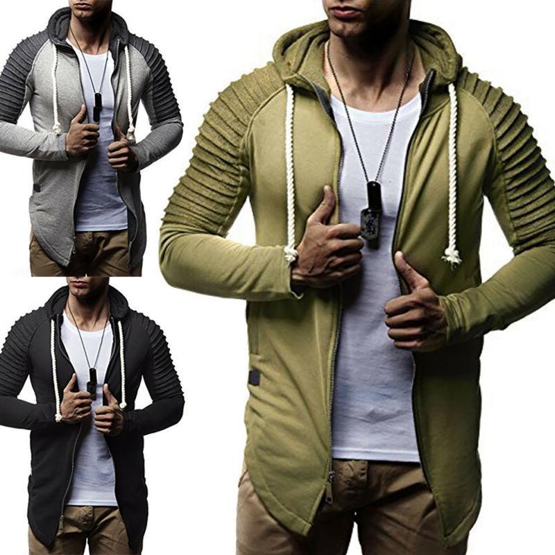 Men's Slim Fit Casual Hoodies Sports Coats Jacket Gym Sweats