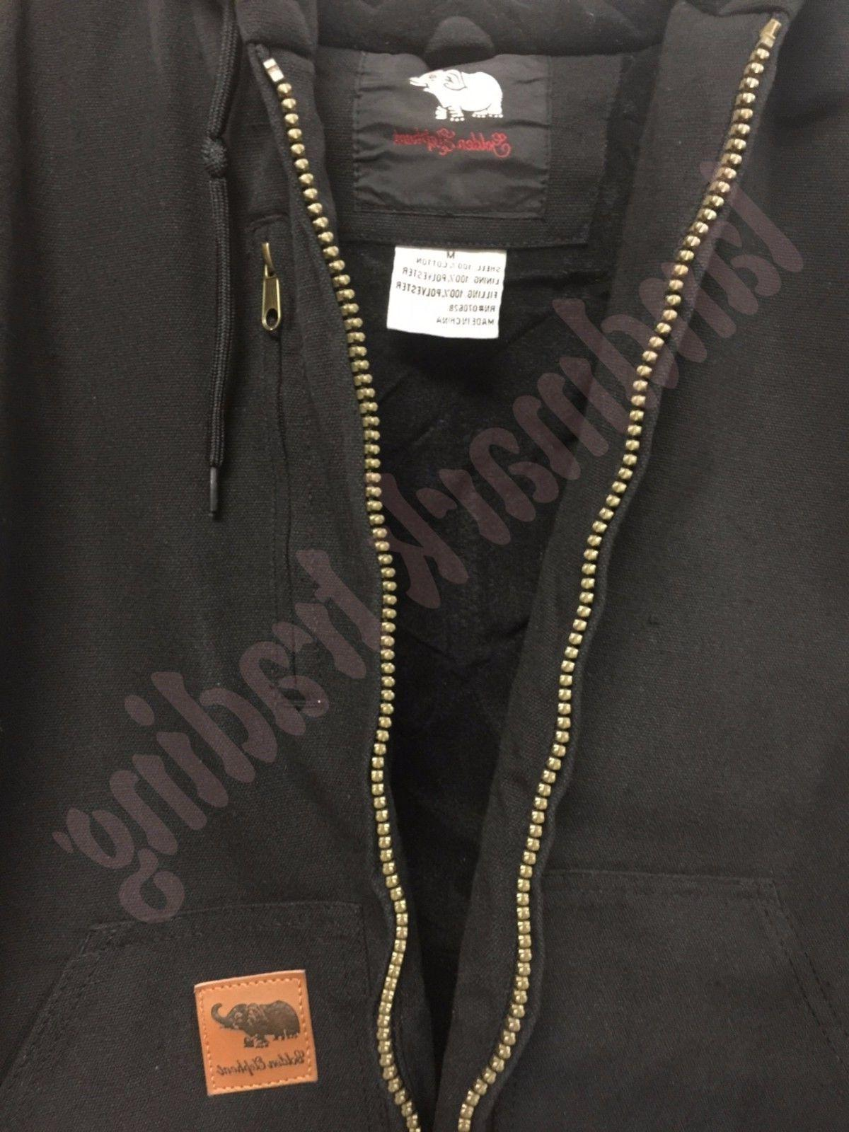 Men Canvas Thermal Lined Industrial Winter Duck Jacket