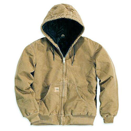 Mens Winter Jacket Sandstone Jacket Canvas Waterproof