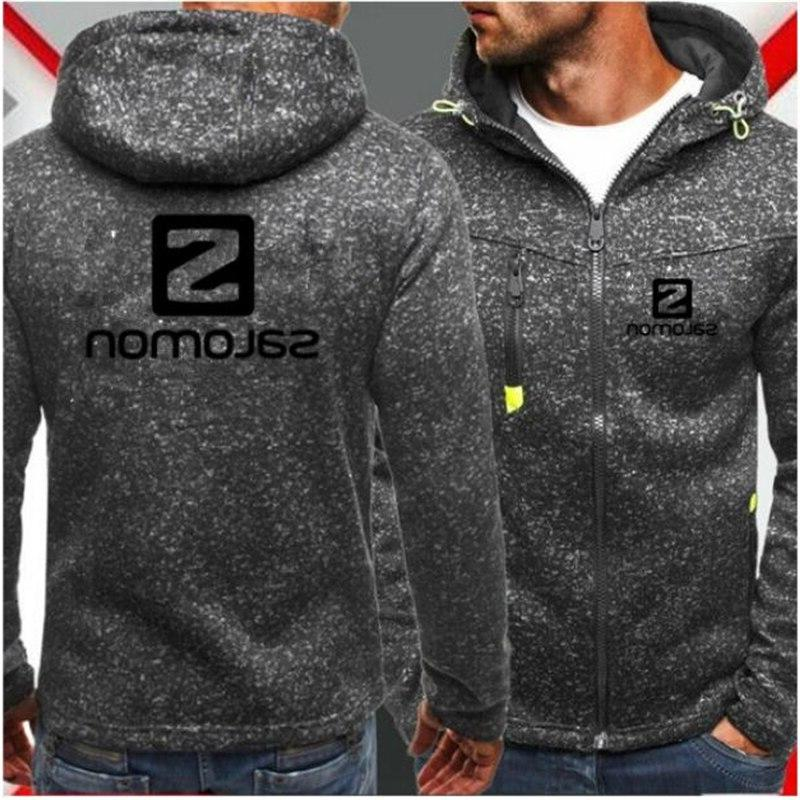 Men Zipper COPINE Fashion Tide Jacquard Hoodies Fleece <font><b>Jacket</b></font> Winter Coat