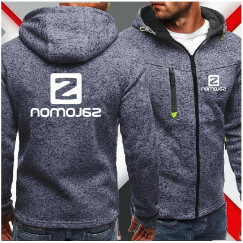 Men Sports Casual Zipper Jacquard Fleece <font><b>Jacket</b></font> Sweatshirts Autumn Winter