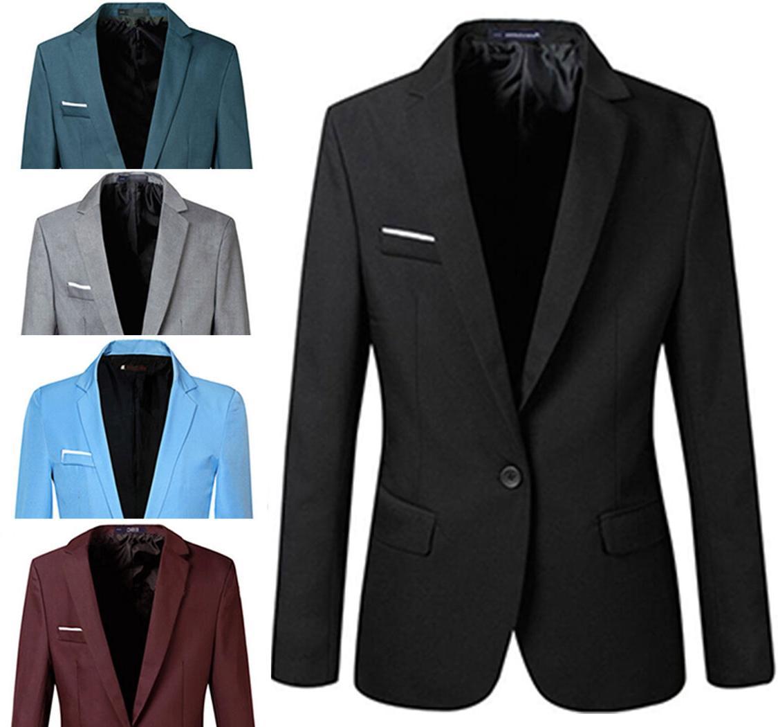 men stylish slim fit one button blazers