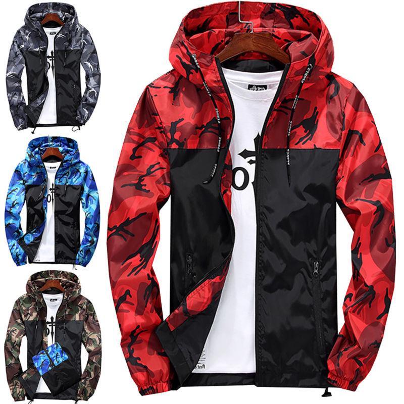 Men Waterproof Hoodie Hooded Sweatshirt Jacket Outwear New