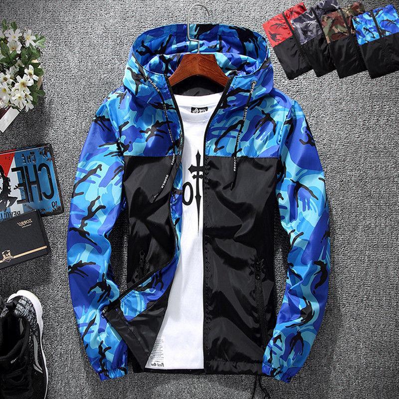 Men Hoodie Hooded Sweatshirt Zip Jacket Outwear New