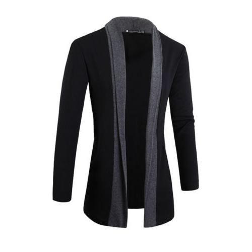 Men Winter Slim Knit Cardigan Jacket Suit