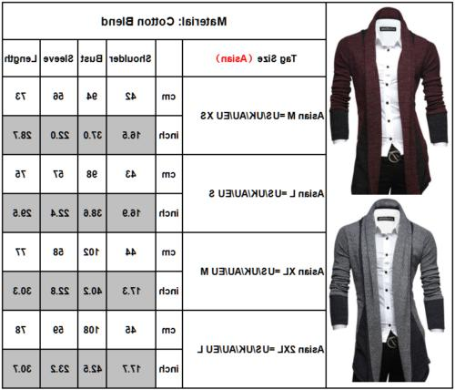 Men Winter Slim Sleeve Knit Cardigan Suit