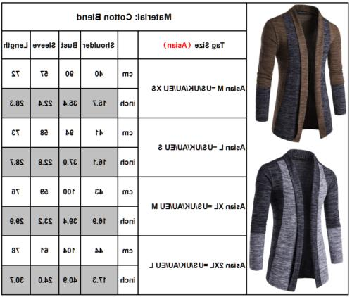 Men Slim Cardigan Coat Jacket Suit
