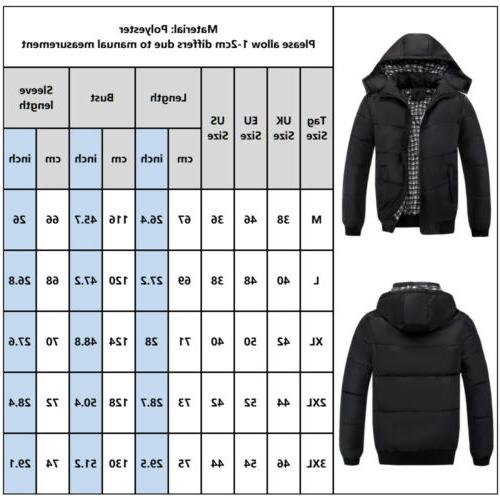 Men Winter Warm Hooded Zipper