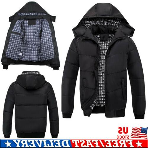 men winter warm ultralight hooded thick padded